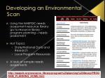 developing an environmental scan