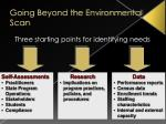 going beyond the environmental scan