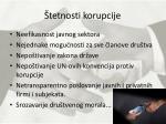 tetnosti korupcije