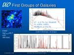 first groups of galaxies