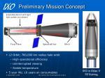 preliminary mission concept