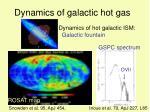 dynamics of galactic hot gas