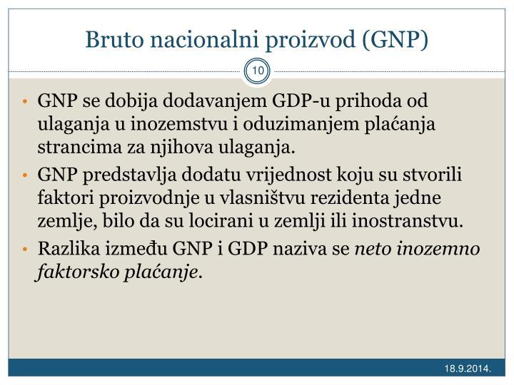 Bruto nacionalni proizvod (GNP)