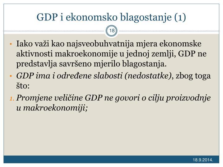 GDP i ekonomsko blagostanje (1)