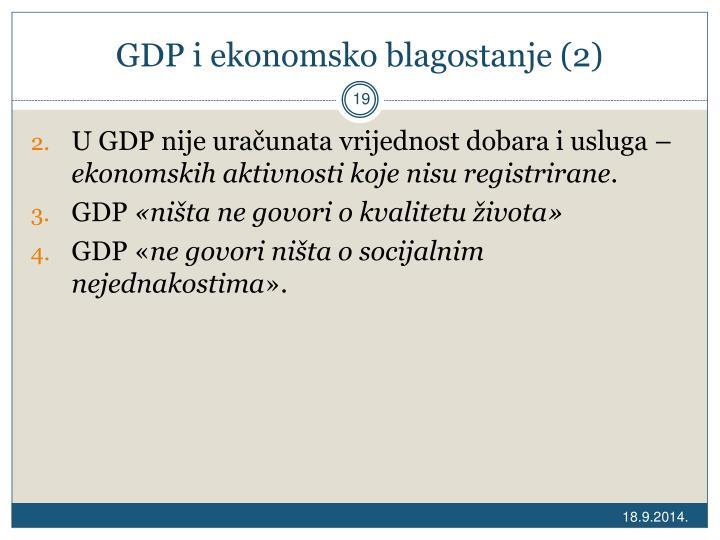 GDP i ekonomsko blagostanje (2)