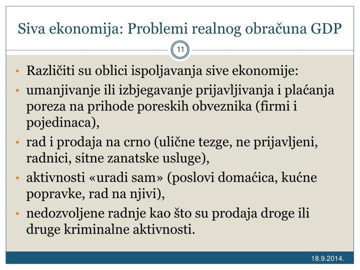 Siva ekonomija: Problemi realnog obračuna GDP