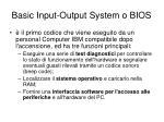 basic input output system o bios