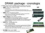 dram package cronologia