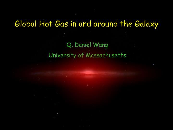 global hot gas in and around the galaxy n.