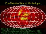 pre chandra view of the hot gas