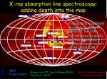 x ray absorption line spectroscopy adding depth into the map