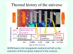 thermal history of the universe