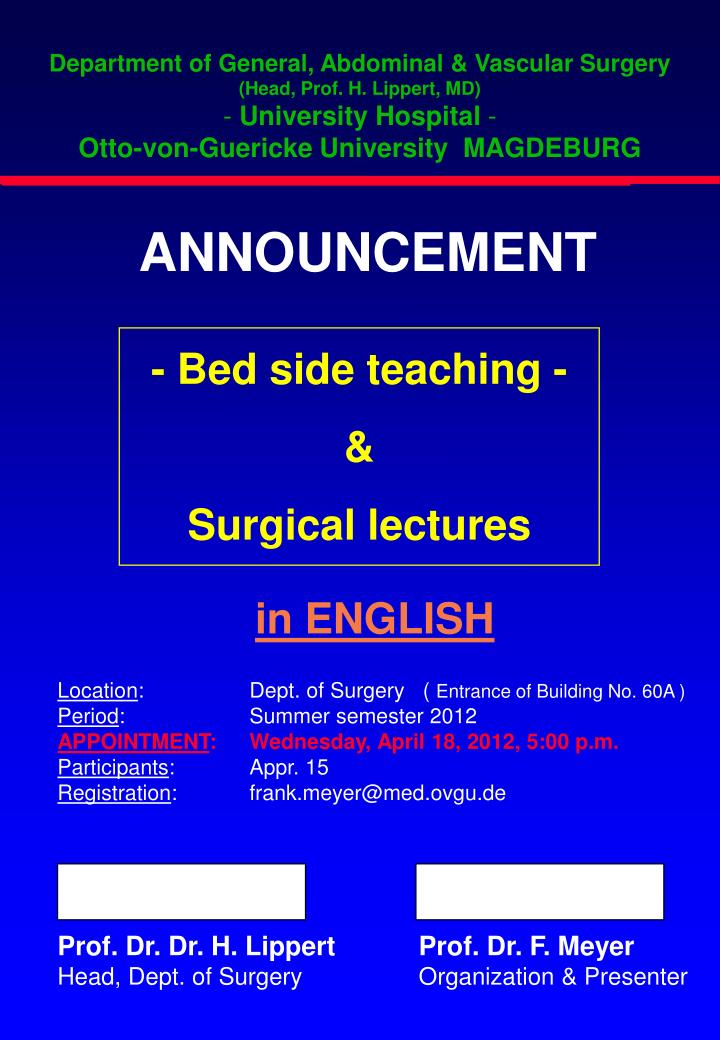 Department of General, Abdominal & Vascular Surgery