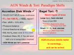 agn winds tori paradigm shifts