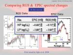 comparing rgs epic spectral changes