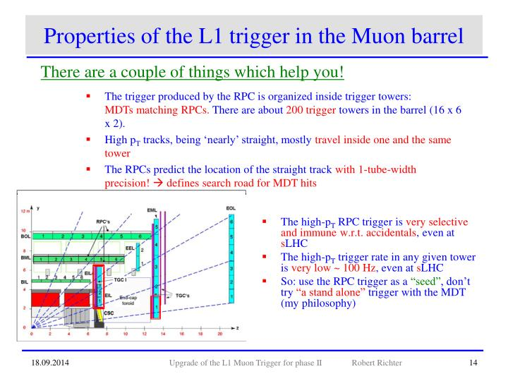Properties of the L1 trigger in the Muon barrel