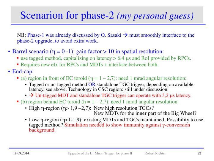 Scenarion for phase-2