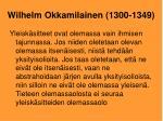 wilhelm okkamilainen 1300 1349