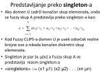 predstavljanje preko singleton a1