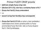 primer fuzzy crisp pravila