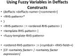 using fuzzy variables in deffacts constructs