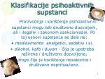 klasifikacije psihoaktivnih supstanci