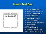 insert text box