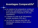 avantages comparatifs 8