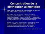 concentration de la distribution alimentaire