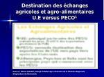 destination des changes agricoles et agro alimentaires u e versus peco 1