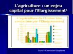l agriculture un enjeu capital pour l elargissement 1