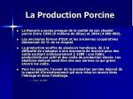 la production porcine