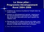 le 2 me pilier programme d veloppement rural 2004 2006