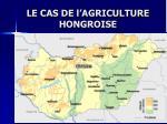 le cas de l agriculture hongroise
