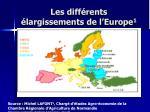 les diff rents largissements de l europe 1