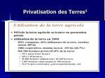 privatisation des terres 1