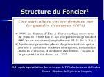 structure du foncier 1
