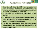 agricultures familiales