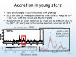 accretion in young stars
