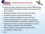 xmm newton chandra