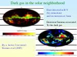 dark gas in the solar neighborhood