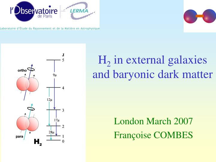h 2 in external galaxies and baryonic dark matter n.