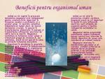 beneficii pentru organismul uman