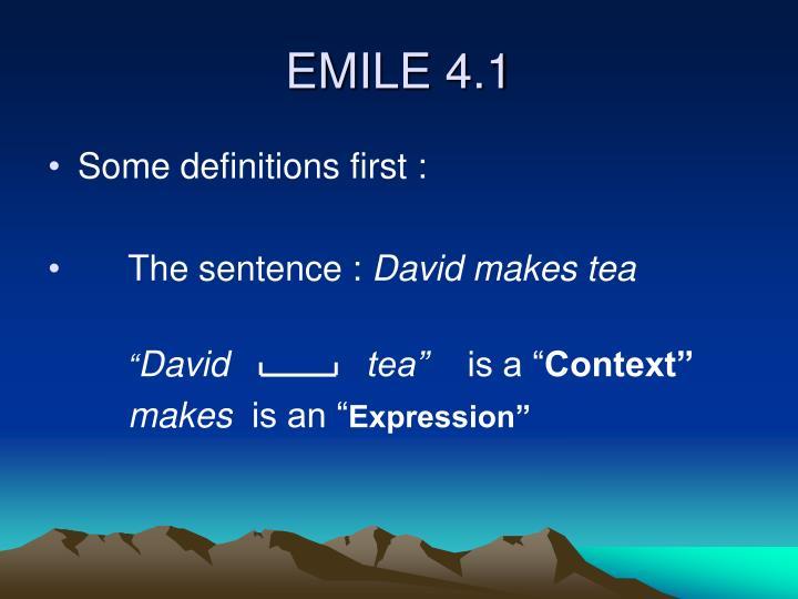 EMILE 4.1