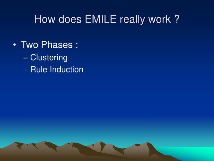 How does EMILE really work ?