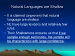 natural languages are shallow