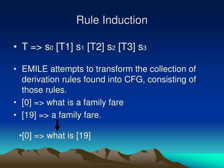 Rule Induction