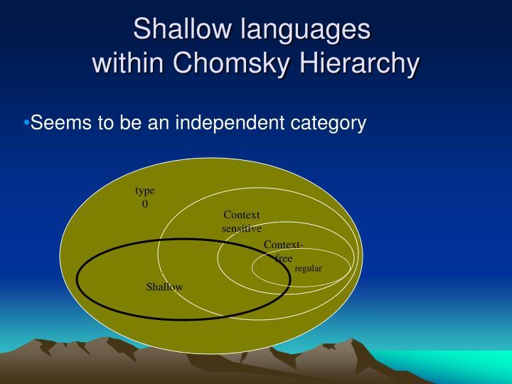 Shallow languages