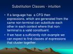 substitution classes intuition