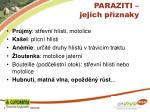 paraziti jejich p znaky